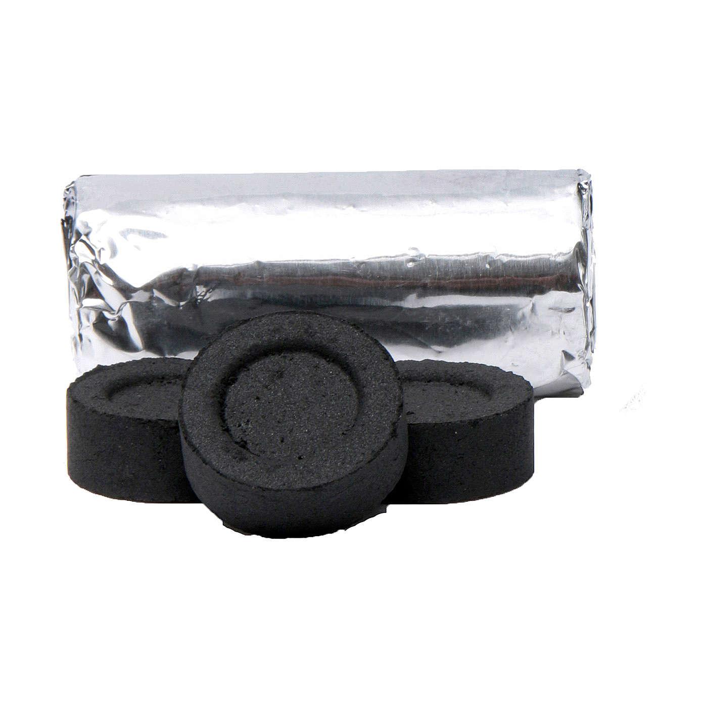 Greek incense charcoals 2,7 cm diameter-114 pieces-45 min 3