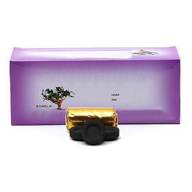 Incense charcoals: Greek incense charcoals 3,3 cm diameter-120 pieces-50 min