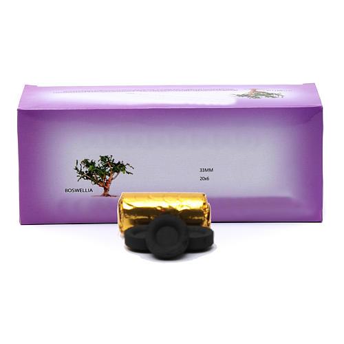 Carvão para incenso grego diâm. 3,3 cm 120 peças 50 min 1