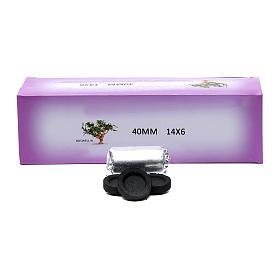 Incense charcoals: Greek incense charcoals 4cm diameter - 84 pcs - 60 min
