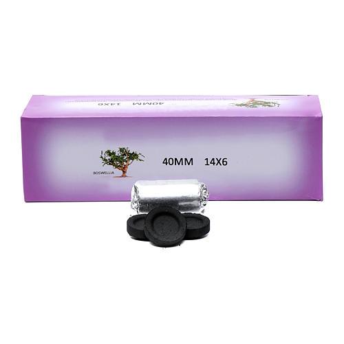 Greek incense charcoals 4cm diameter - 84 pcs - 60 min 1