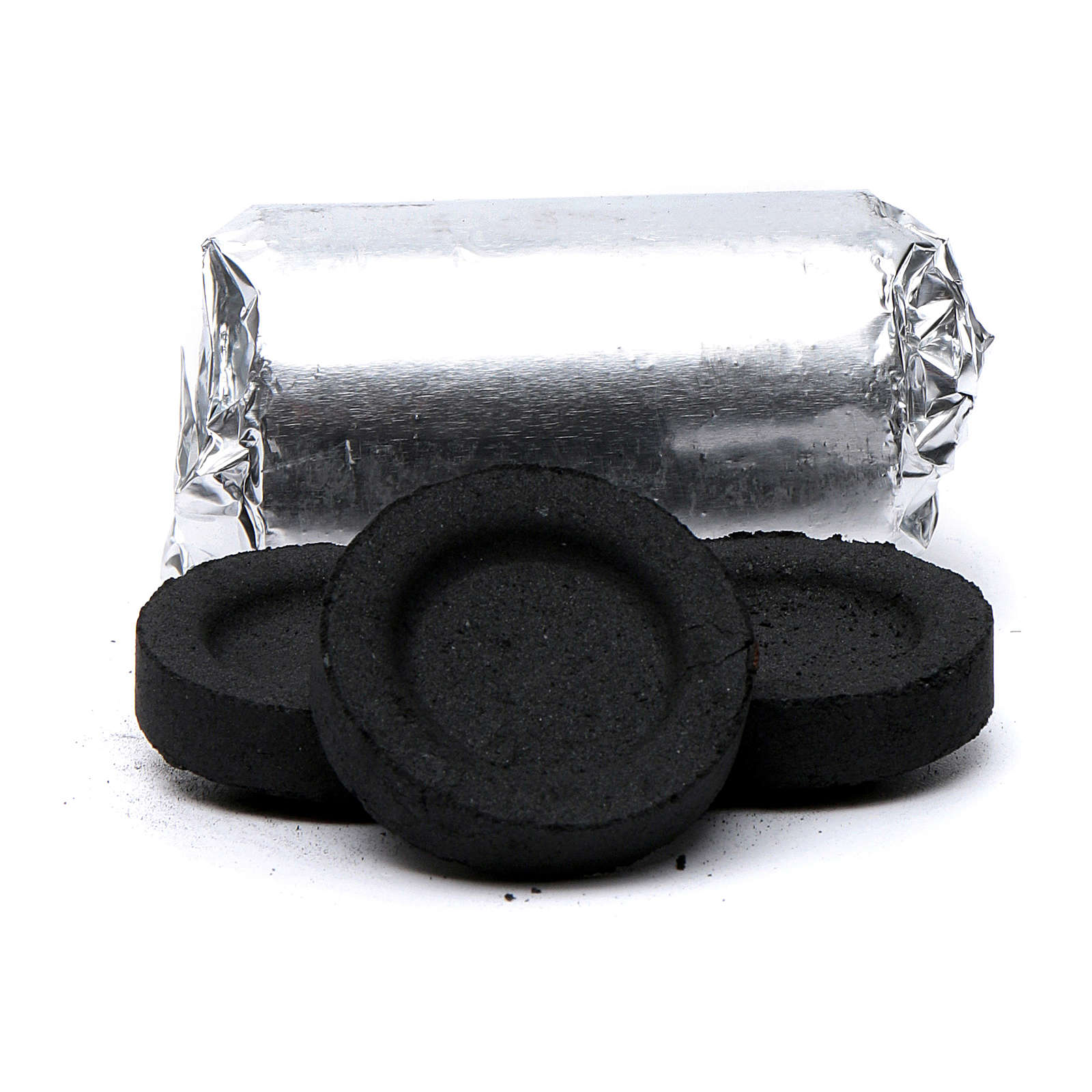 Greek incense charcoals 4cm diameter - 84 pcs - 60 min 3