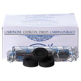 Carbón griego pastillas 4 cm - 100 unidades s2