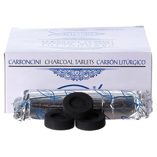 Carboncini bruciaincenso 4 cm 100 pastiglie 2