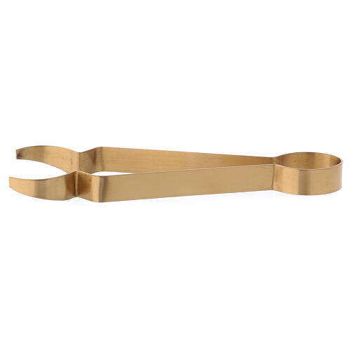 Charcoal tongs in gold plated matte brass 7 in 1