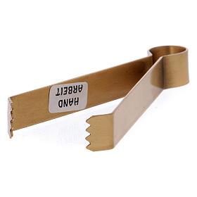 Pinça para carvões latão dourado opaco 11,5 cm s2