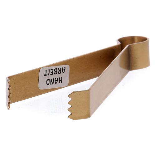 Pinça para carvões latão dourado opaco 11,5 cm 2