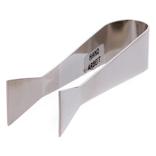 Pinzas para carboncillos latón niquelado 10 cm 2