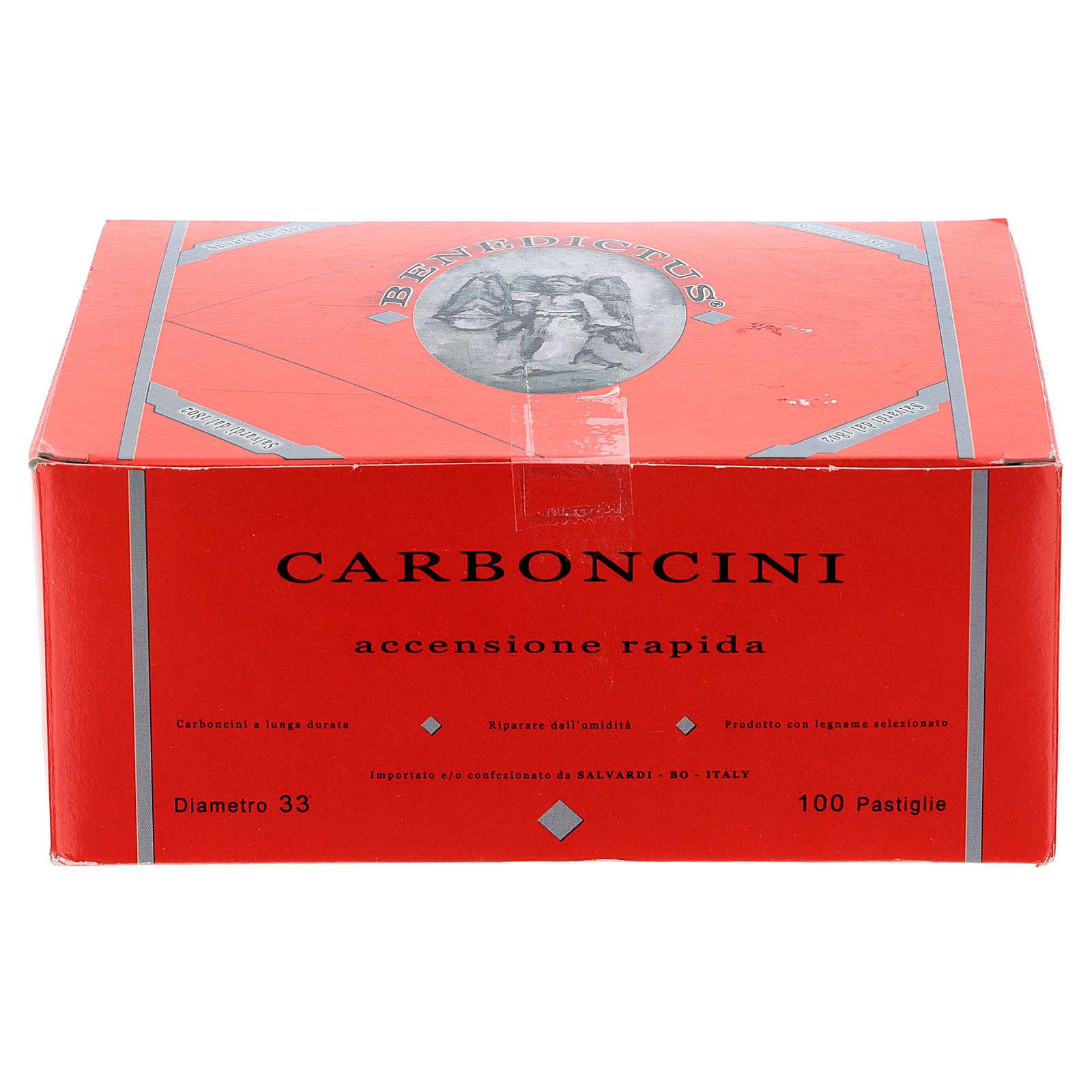 Charbons longue durée diam. 3 cm allumage rapide 100 pcs 3