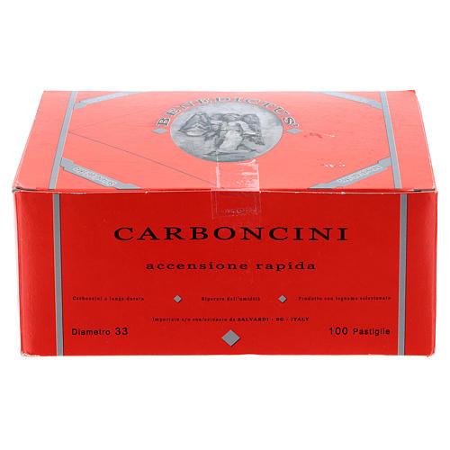 Charbons longue durée diam. 3 cm allumage rapide 100 pcs 1