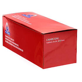 Carboncillos para incienso diámetro 27 mm caja de 120 s3