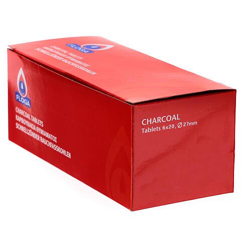 Carvões para incenso diâmetro 27 mm embalagem 120 peças 3
