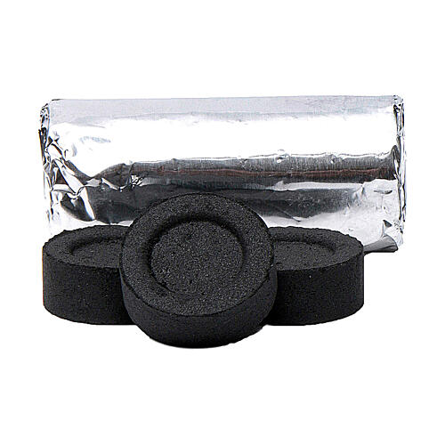 Charcoal for incense 0.1 in diameter 120-piece pack 2