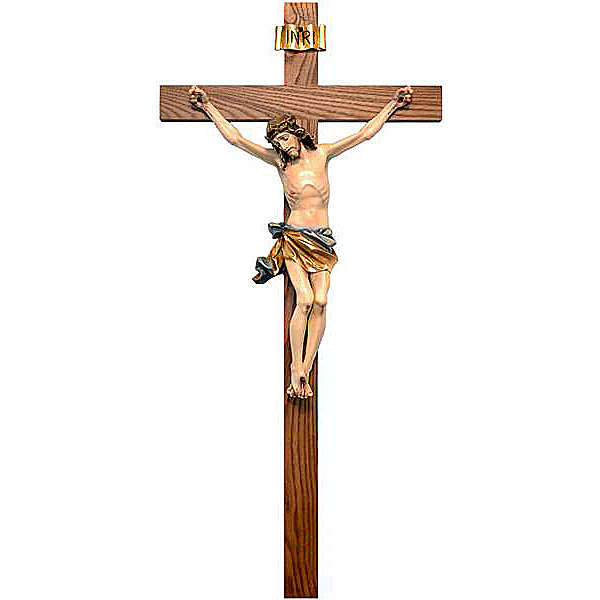 Painted crucifix straight cross 4