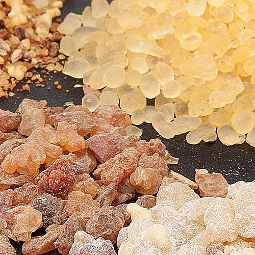 Inciensos perfumados Olíbano muestras 1