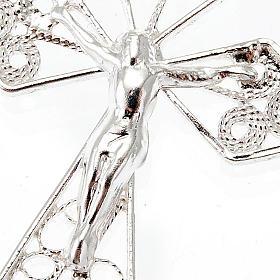 Silver filigree cross pendant s4