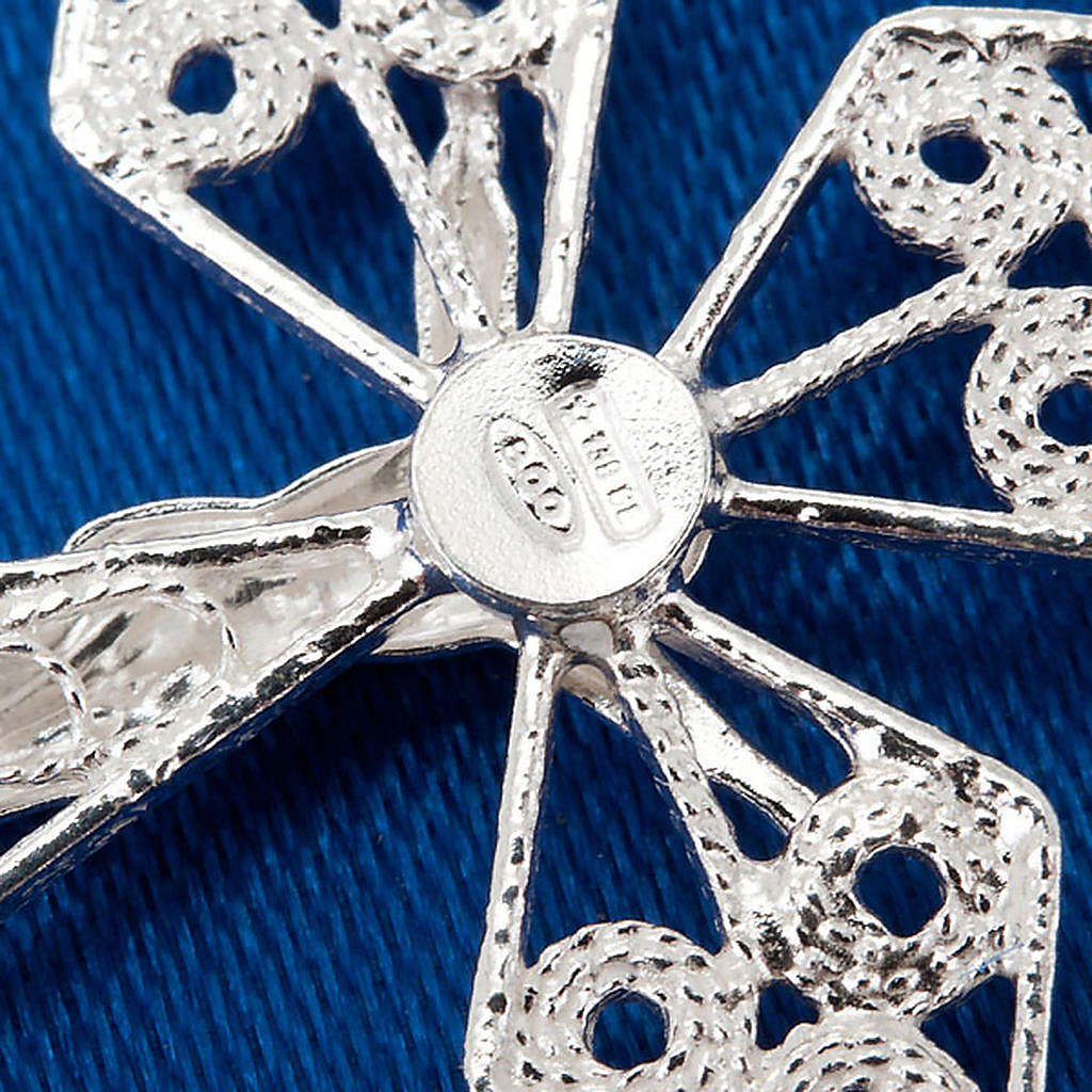 Croce pendente filigrana argento 800 4