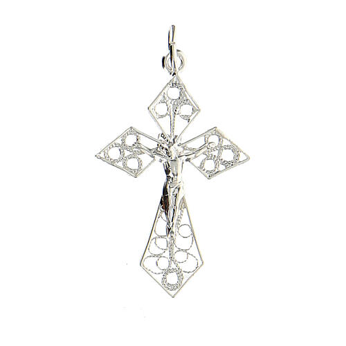 Croce pendente filigrana argento 800 1