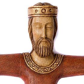 Crucifix, Christ Prêtre et Roi bois s2