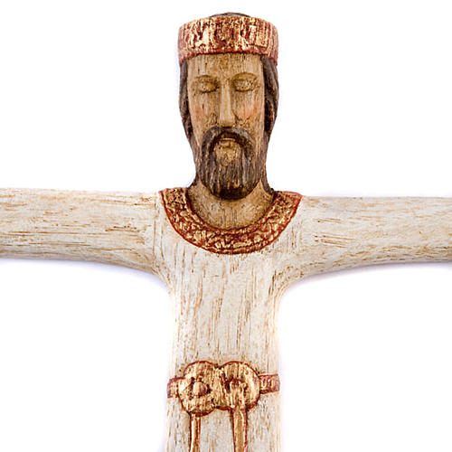 Cristo Sacerdote legno bianco 2