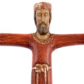 Crucifix, Christ Prêtre en bois s2