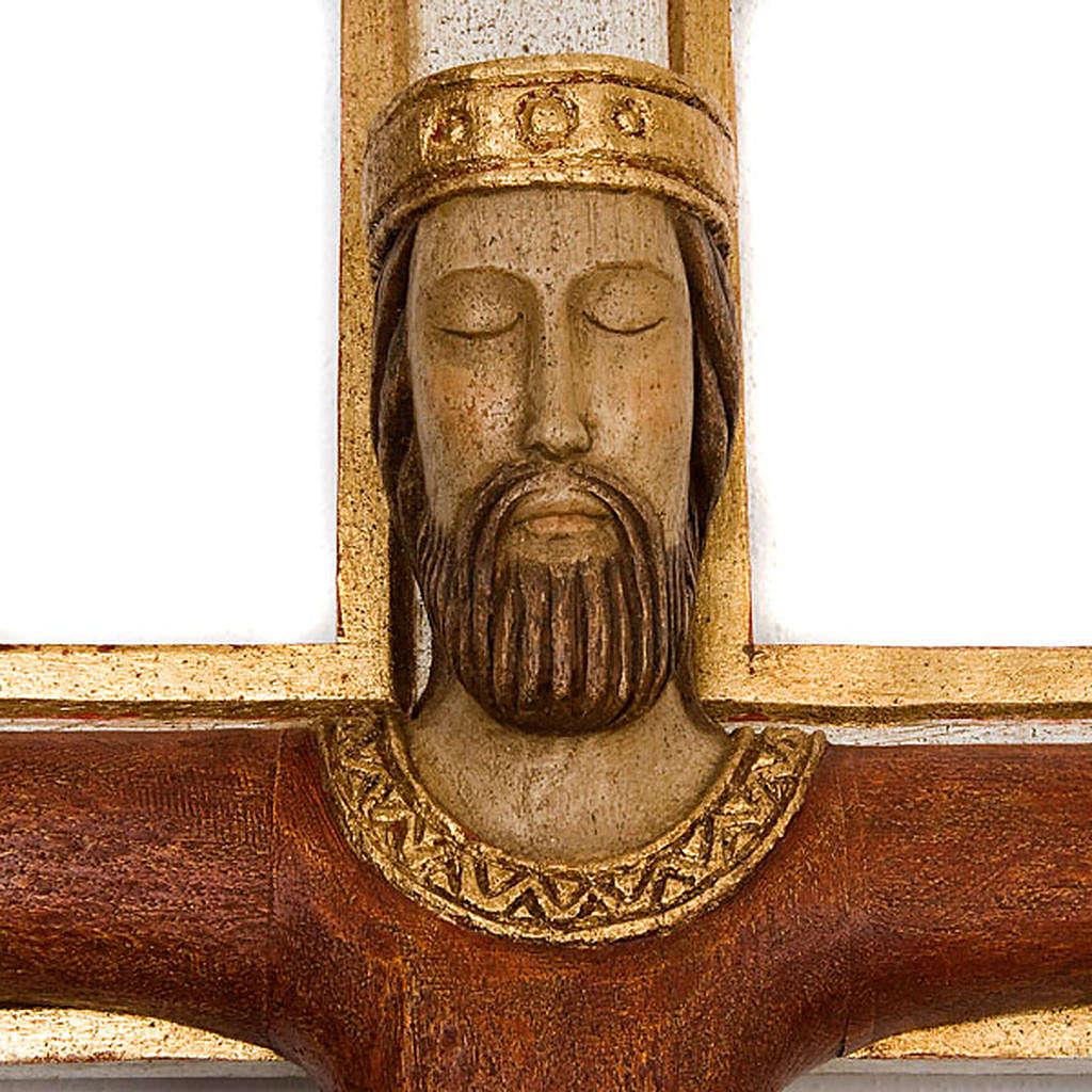 Cristo Sacerdote madera cruz mural 4
