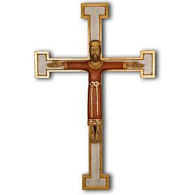 Cristo Sacerdote madera cruz mural s1