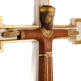 Cristo Sacerdote madera cruz mural s2