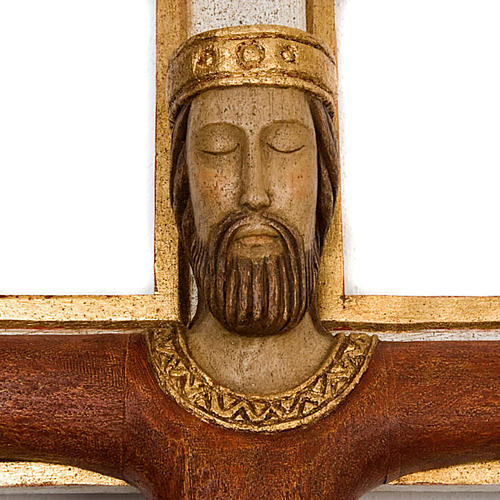 Cristo Sacerdote madera cruz mural 3
