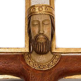 Crucifix, Christ Prêtre en bois, affichage mur s3