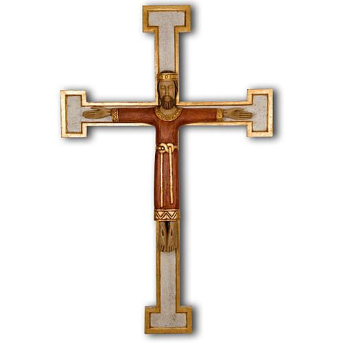Crucifix, Christ Prêtre en bois, affichage mur 1