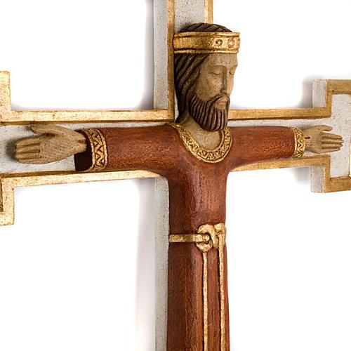Crucifix, Christ Prêtre en bois, affichage mur 2