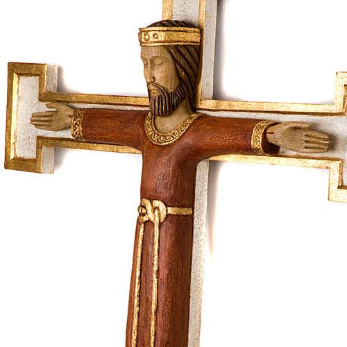 Crucifix, Christ Prêtre en bois, affichage mur 4