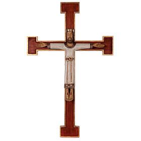 Cristo Sacerdote legno croce murale s1