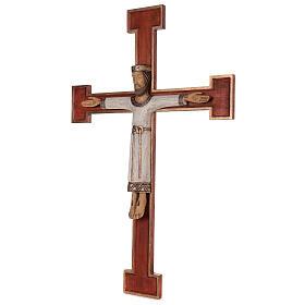 Cristo Sacerdote legno croce murale s3