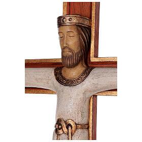 Cristo Sacerdote legno croce murale s4