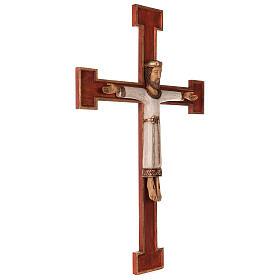 Cristo Sacerdote legno croce murale s5