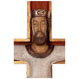 Cristo Sacerdote legno croce murale s6