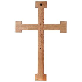 Cristo Sacerdote legno croce murale s11