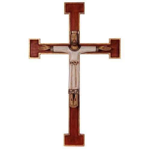 Cristo Sacerdote legno croce murale 1