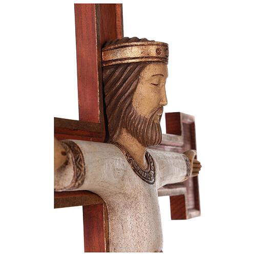 Cristo Sacerdote legno croce murale 2