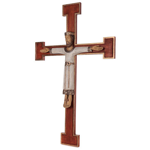 Cristo Sacerdote legno croce murale 3