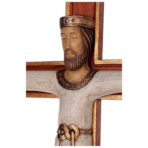 Cristo Sacerdote legno croce murale 4