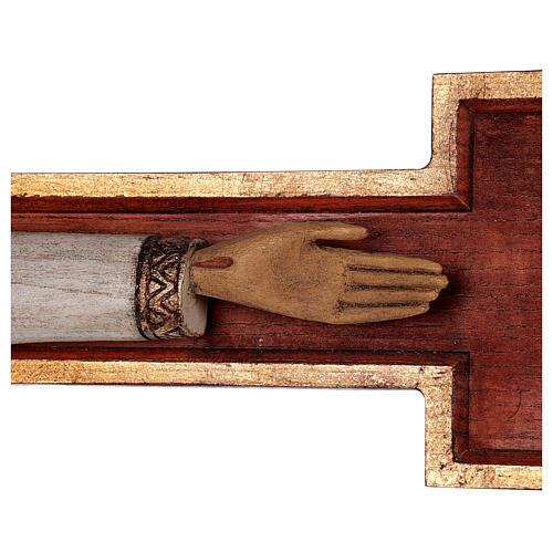 Cristo Sacerdote legno croce murale 7