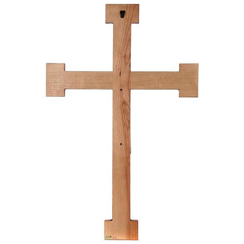 Cristo Sacerdote legno croce murale 11