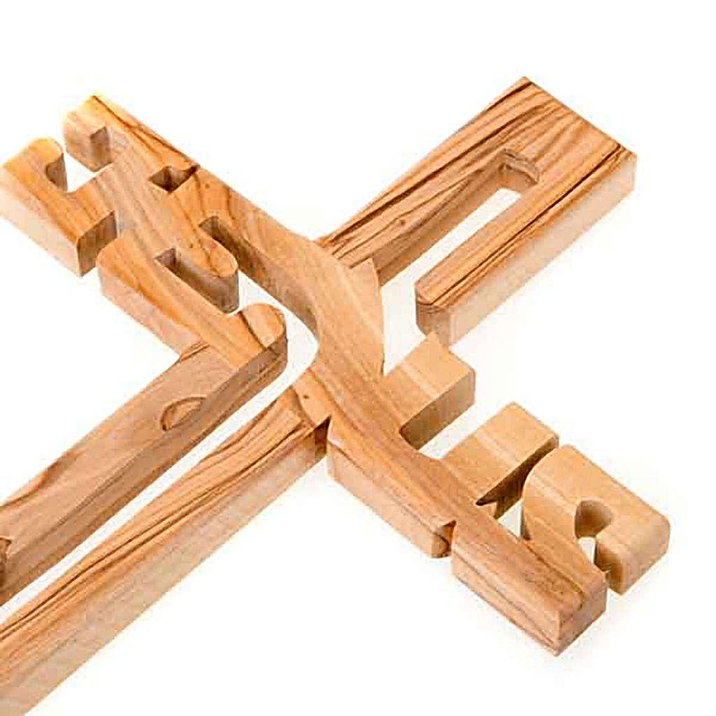 Crucifijo madera de olivo Jesus 4