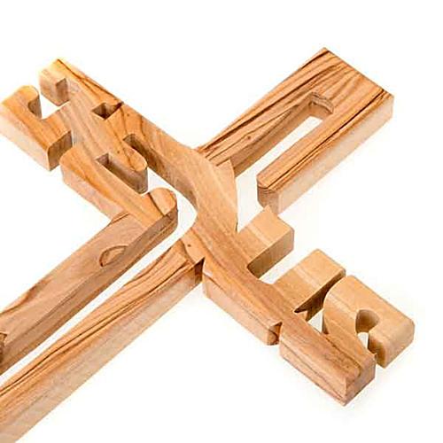 Crucifijo madera de olivo Jesus 2