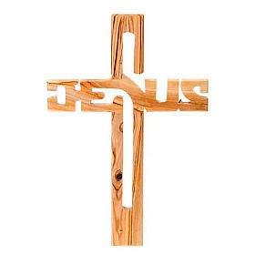 Crocifisso legno olivo Jesus s1