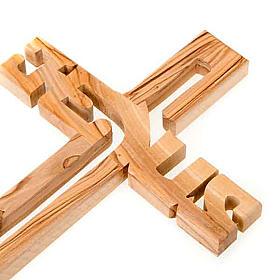 Olive wood Jesus crucifix s2