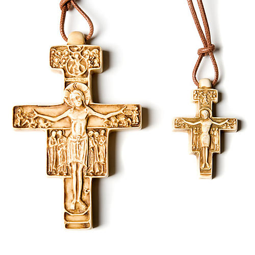 Wisiorek krzyż święty Damian 1
